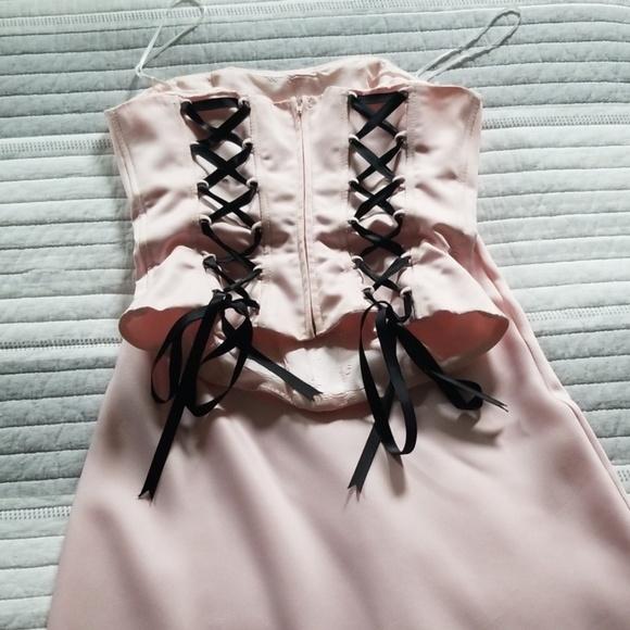 scene Dresses & Skirts - Light Pink Corset Top & skirt with train set